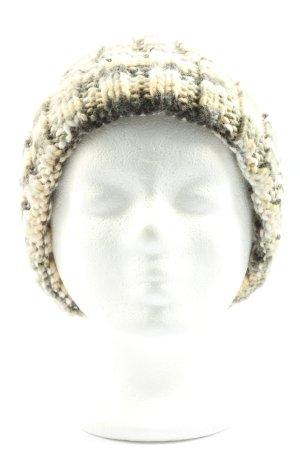 Bonnet en crochet motif à carreaux style décontracté