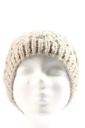 bloom copenhagen Bonnet en crochet blanc cassé torsades style décontracté