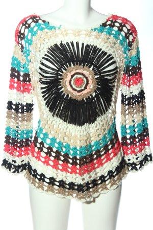 Szydełkowany sweter Siateczkowy wzór W stylu casual