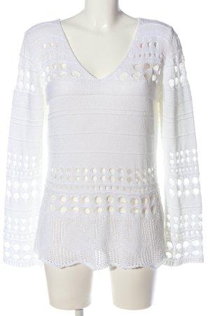 Gehaakte trui wit casual uitstraling