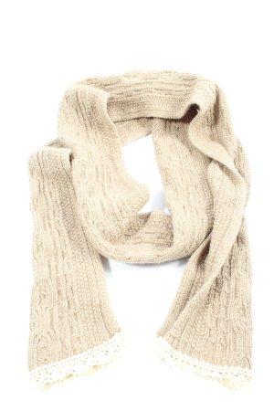 Szydełkowany szalik w kolorze białej wełny W stylu casual