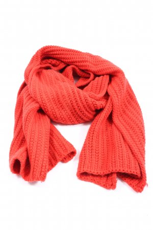 Écharpe en crochet rouge style décontracté