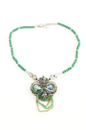 Nobel Necklace green wet-look