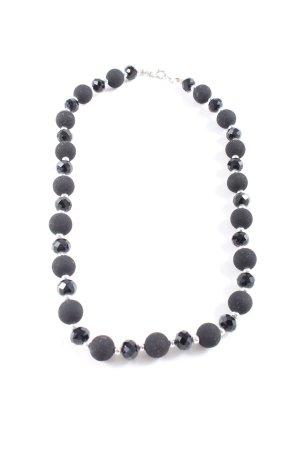 Necklace black-silver-colored elegant