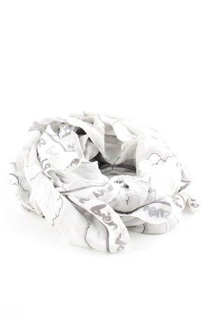 Halsdoek wit-lichtgrijs prints met een thema casual uitstraling
