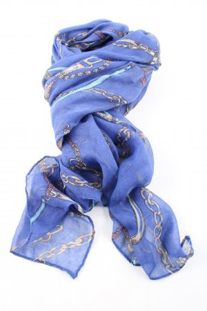 Neckerchief blue allover print casual look