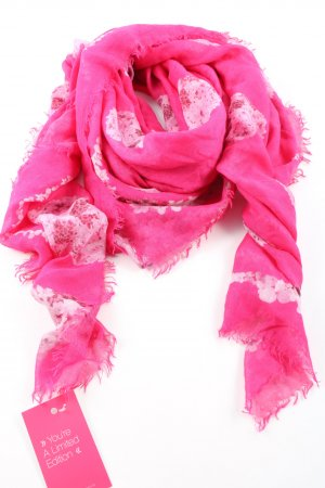 Neckerchief pink-white themed print casual look
