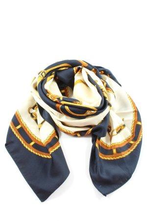 Foulard bleu-blanc imprimé avec thème style d'affaires