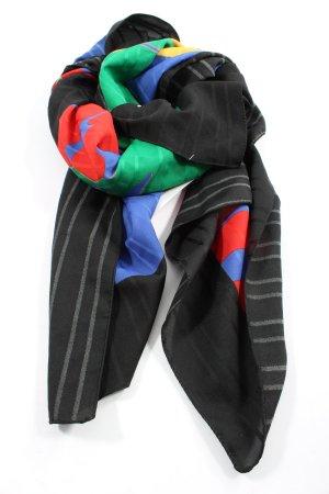 Pañoleta negro estampado con diseño abstracto elegante