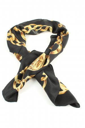 -8- Venice Pañoleta negro-amarillo pálido estampado temático
