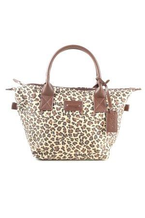 Handtasche creme-braun Animalmuster Casual-Look