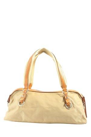 Handtasche creme-hellorange Casual-Look