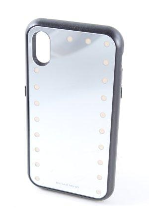 Étui pour téléphone portable blanc-noir style décontracté