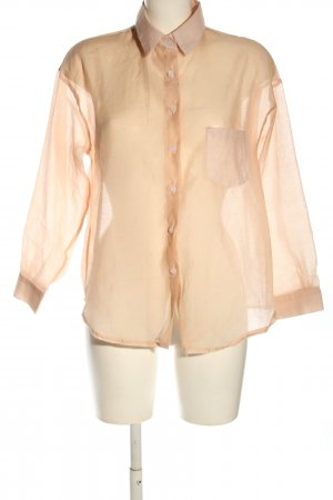 ONI STUDIO Hemd-Bluse nude Business-Look
