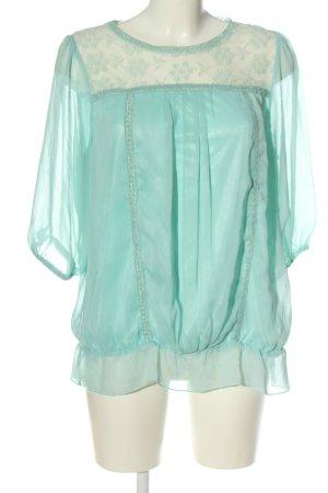 Lysgaard Camicia blusa turchese stile casual