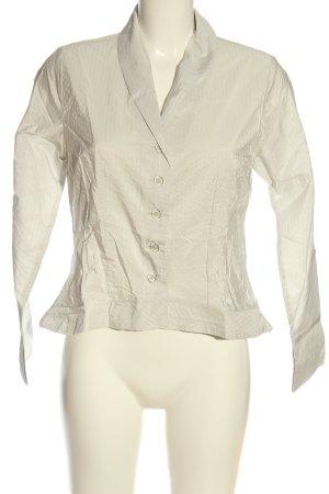synchron Hemd-Bluse wollweiß Streifenmuster Business-Look