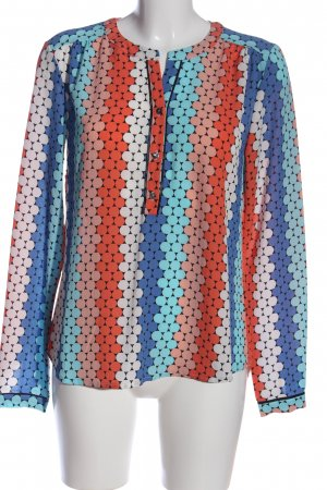 Hemd-Bluse Allover-Druck Casual-Look