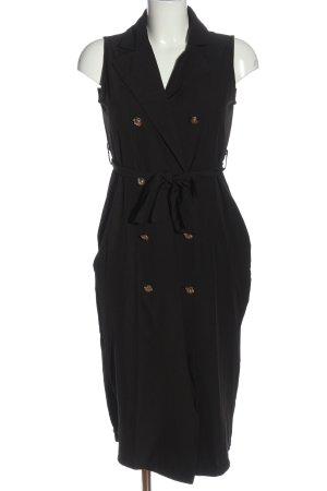 Robe chemise noir style décontracté