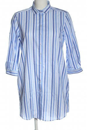 Eterna Koszulowa sukienka niebieski-biały Na całej powierzchni