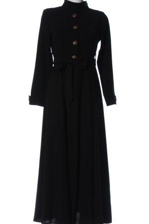 Nur Aksa Tesettür Robe chemise noir élégant