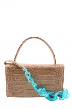 Carry Bag brown-turquoise animal pattern casual look