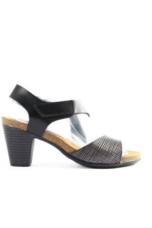 High Heel Sandaletten silberfarben Casual-Look