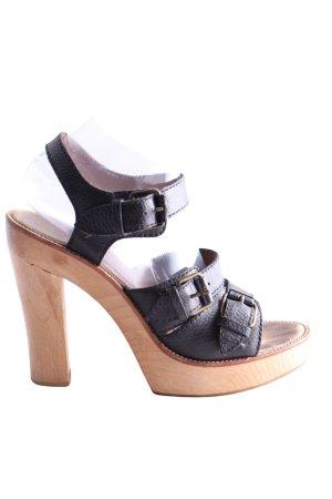 High Heel Sandaletten schwarz Elegant