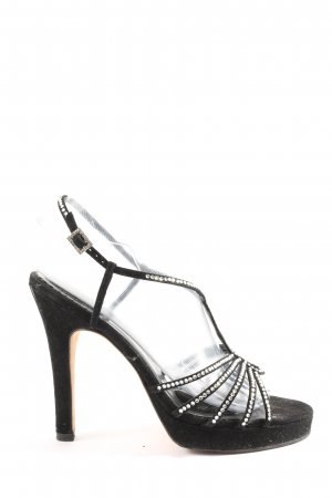 Hoge hakken sandalen zwart extravagante stijl