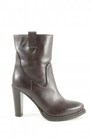 High Heel Stiefel braun Business-Look