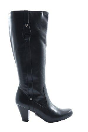 natural soul Wysokie buty na obcasie czarny W stylu casual