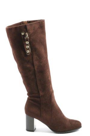 Laarzen met hoge hakken bruin casual uitstraling