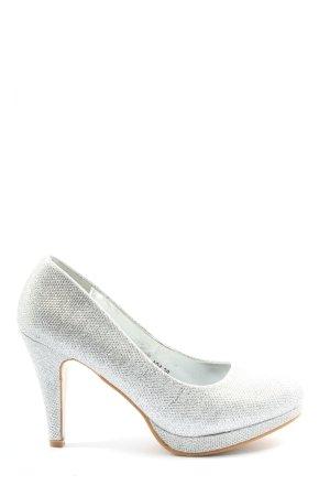 BELLO' CLOCK High Heels silberfarben Elegant