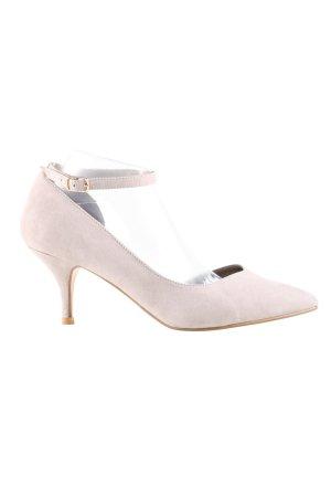wide fit High Heels wollweiß Business-Look