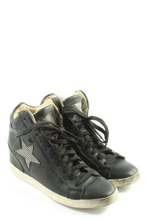 ouye High Top Sneaker schwarz-weiß Casual-Look