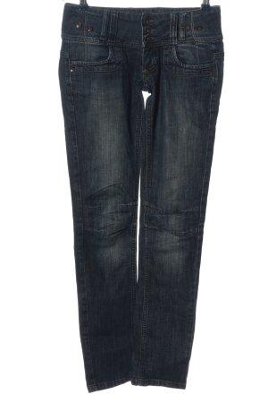 mac-b denim Jeans a vita alta blu stile casual