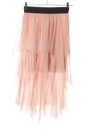 Jupe taille haute rose style décontracté