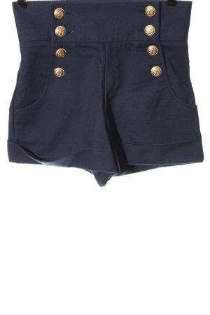 High-Waist-Shorts blue elegant