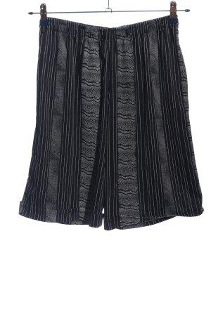 High-Waist-Shorts blau-hellgrau Streifenmuster Casual-Look