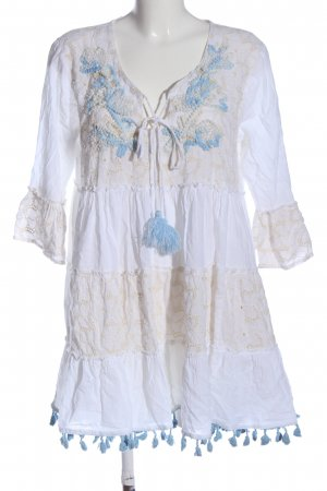 sumitra Hippie Dress white-blue graphic pattern casual look
