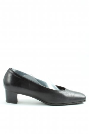 Loafers black business style