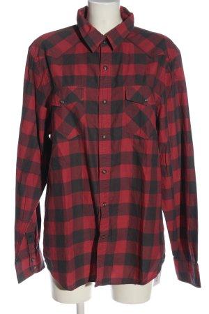 American Eagle Outfitters Chemise de bûcheron rouge-noir motif à carreaux