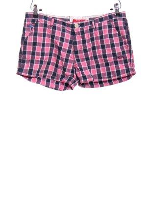 Luperdry Hot Pants Karomuster Casual-Look