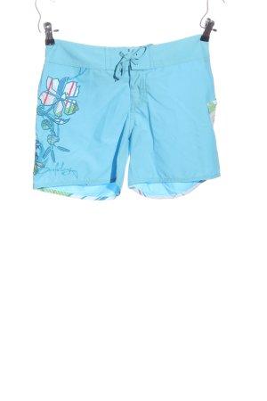Hot Pants blau Blumenmuster Casual-Look