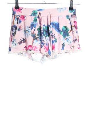Short Stories Hot Pants pink-blau Blumenmuster Casual-Look