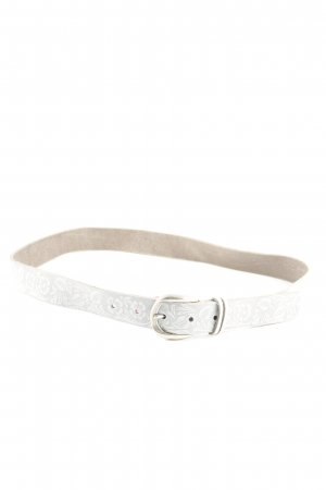 Hip Belt light grey-white flower pattern casual look
