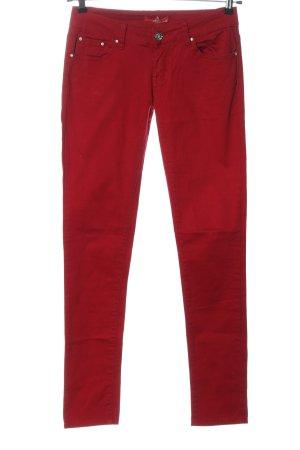 Miss Lyss Jeansy biodrówki czerwony W stylu casual