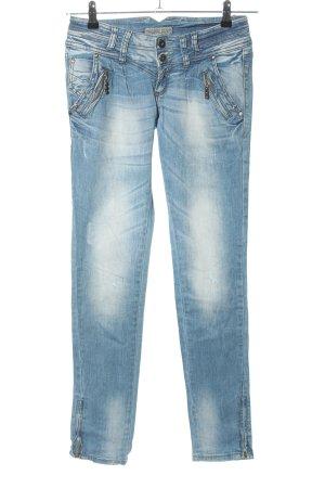 Jeans vita bassa blu stile casual