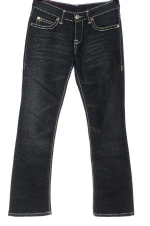 Jeansy biodrówki czarny-biały Melanżowy W stylu casual