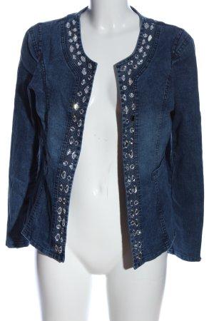 mengnasai Blazer en jean bleu style décontracté