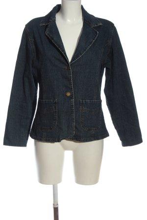 Blazer en jean bleu style décontracté